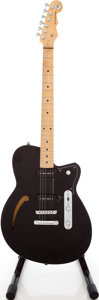 Musical Instruments:Electric Guitars, 2000 Reverend Club King Black Semi-Hollow Body Electric Guitar,Serial # 12528. ...
