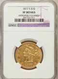Liberty Eagles, 1877-S $10 -- Improperly Cleaned -- NGC Details. XF. NGC Census:(25/137). PCGS Population (29/67). Mintage: 17,000. Nu...