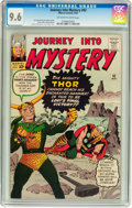 Silver Age (1956-1969):Superhero, Journey Into Mystery #92 (Marvel, 1963) CGC NM+ 9.6 Off-white towhite pages....