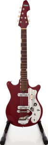 Musical Instruments:Electric Guitars, 1960s Silvertone Model 1435 Red Solid Body Electric Guitar, Serial# 267729. ...