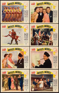 """Movie Posters:Comedy, Artists and Models (Paramount, 1937). Lobby Card Set of 8 (11"""" X14"""").. ... (Total: 8 Items)"""