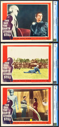 "Movie Posters:Science Fiction, The Day the Earth Stood Still (20th Century Fox, 1951). CGC GradedLobby Cards (3) (11"" X 14"").. ... (Total: 3 Items)"