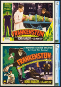 "Movie Posters:Horror, Frankenstein (Realart, R-1951). CGC Graded Title Lobby Card andLobby Card (11"" X 14"").. ... (Total: 2 Items)"