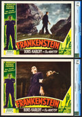 "Movie Posters:Horror, Frankenstein (Realart, R-1951). CGC Graded Lobby Cards (2) (11"" X14"").. ... (Total: 2 Items)"