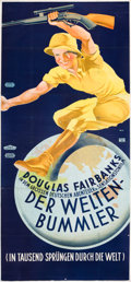 "Movie Posters:Documentary, Around the World in 80 Minutes (United Artists, 1931). AustrianPoster (49"" X 110"").. ..."
