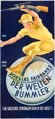 """Around the World in 80 Minutes (United Artists, 1931). Austrian Poster (49"""" X 110"""")"""