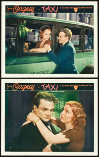 """Taxi (Warner Brothers, 1932). Lobby Cards (2) (11"""" X 14""""). ... (Total: 2 Items)"""