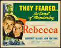 "Movie Posters:Hitchcock, Rebecca (United Artists, 1940). Title Lobby Card (11"" X 14"").. ..."