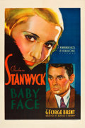"Movie Posters:Drama, Baby Face (Warner Brothers, 1933). One Sheet (27"" X 41"").. ..."