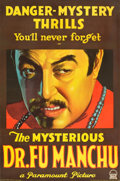 "Movie Posters:Horror, The Mysterious Dr. Fu Manchu (Paramount, 1929). Full-Bleed OneSheet (27"" X 41"") Style B.. ..."