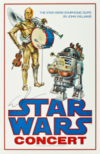 "Star Wars (20th Century Fox, 1978). Autographed Concert Poster (24"" X 37"")"