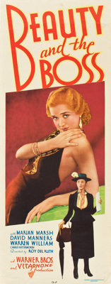 """Beauty and the Boss (Warner Brothers, 1932). Insert (14"""" X 36"""")"""