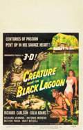 """Movie Posters:Horror, Creature from the Black Lagoon (Universal International, 1954).Window Card (14"""" X 22"""") 3-D Style.. ..."""