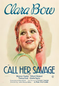 "Movie Posters:Drama, Call Her Savage (Fox, 1932). One Sheet (27"" X 41"").. ..."