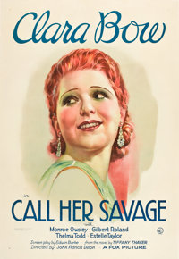 "Call Her Savage (Fox, 1932). One Sheet (27"" X 41"")"