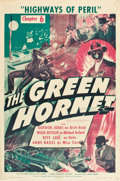 "Movie Posters:Serial, The Green Hornet (Universal, 1940). One Sheet (27"" X 41"") Chapter 6 -- ""Highways of Peril."". ..."
