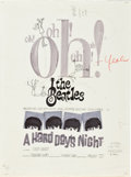 "Movie Posters:Rock and Roll, A Hard Day's Night (United Artists, 1964). Poster PreliminaryLayout (18"" X 24"").. ..."