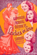 "Movie Posters:Romance, Ladies in Love (20th Century Fox, 1936). Silk-Screen Poster (40"" X60"").. ..."
