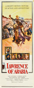 "Movie Posters:Academy Award Winners, Lawrence of Arabia (Columbia, 1962). Insert (14"" X 36"") RoadshowStyle.. ..."