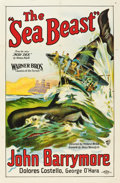 "Movie Posters:Action, The Sea Beast (Warner Brothers, 1926). One Sheet (27"" X 41"") StyleA.. ..."
