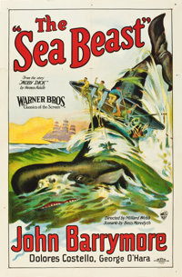 "The Sea Beast (Warner Brothers, 1926). One Sheet (27"" X 41"") Style A"