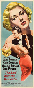 "Movie Posters:Drama, The Bad and the Beautiful (MGM, 1953). Insert (14"" X 36"").. ..."