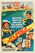 "Movie Posters:Western, She Wore a Yellow Ribbon (RKO, 1949). One Sheet (27"" X 41"").. ..."