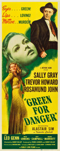 "Movie Posters:Film Noir, Green for Danger (Eagle Lion, 1946). Insert (14"" X 36"").. ..."