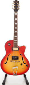 Musical Instruments:Electric Guitars, 2000s Indiana Cherry Sunburst Semi-Hollow Body Electric Guitar,Serial # ...