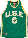 Basketball Collectibles:Uniforms, Bill Russell Signed University of San Francisco Jersey....