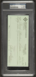 Baseball Collectibles:Others, 1994 Curt Flood Triple Signed Check. ...