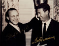 Baseball Collectibles:Photos, Ted Williams and Stan Musial Multi Signed Photograph....