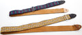 Musical Instruments:Miscellaneous, 1970s Ace Guitar Strap Lot of 2....