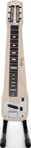 Musical Instruments:Lap Steel Guitars, 1960s Fender Champ Tan Lap Steel Guitar, Serial # 02298.. ...
