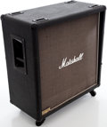 Musical Instruments:Amplifiers, PA, & Effects, 1980s Marshall JCM 800 1960B Lead 4 X 12 Black Speaker Cabinet,Serial # 14138....