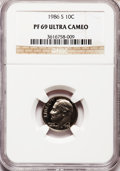 Proof Roosevelt Dimes: , 1986-S 10C PR69 Ultra Cameo NGC. NGC Census: (330/73). PCGSPopulation (2840/172). Numismedia Wsl. Price for problem free ...