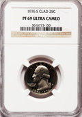 Proof Washington Quarters: , 1976-S 25C Clad PR69 Ultra Cameo NGC. NGC Census: (355/1). PCGSPopulation (12185/93). Numismedia Wsl. Price for problem f...