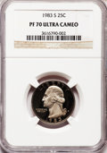 Proof Washington Quarters: , 1983-S 25C PR70 Ultra Cameo NGC. NGC Census: (48). PCGS Population(98). Numismedia Wsl. Price for problem free NGC/PCGS c...