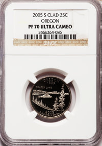 2005-S 25C Oregon Clad PR70 Ultra Cameo NGC. NGC Census: (2623). PCGS Population (261). Numismedia Wsl. Price for proble...