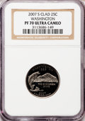 Proof Statehood Quarters, 2007-S 25C Washington Clad PR70 Ultra Cameo NGC. NGC Census: (0).PCGS Population (193). Numismedia Wsl. Price for problem...