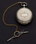 Timepieces:Pocket (pre 1900) , Waltham 15 Jewel Coin Silver Hunter's Case Pocket Watch. ...