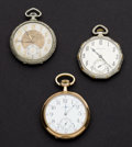Timepieces:Pocket (post 1900), Waltham 17 Jewel & Builtright 6 Jewel & Hamilton 17 JewelPocket Watches. ... (Total: 3 Items)