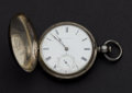 Timepieces:Pocket (post 1900), Waltham 11 Jewel Adam's St. 14 Coin Silver Hunter's Case Pocket Watch. ...