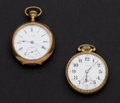 Timepieces:Pocket (post 1900), Illinois & Waltham 16 Size 17 Jewel Pocket Watches . ...(Total: 2 Items)
