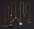 Timepieces:Watch Chains & Fobs, Four Gold Filled Watch Chains . ... (Total: 4 Items)
