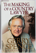 Books:Biography & Memoir, Gerry Spence. INSCRIBED. The Making of a Country Lawyer. St.Martins, 1996. First edition, first printing. Sig...