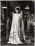 "Movie/TV Memorabilia:Autographs and Signed Items, Elsa Lanchester Signed ""Bride of Frankenstein"" Photo. A greatpublicity still of Lanchester in the 1935 sequel The Bride o...(Total: 1 Item)"