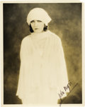 "Movie/TV Memorabilia:Autographs and Signed Items, Pola Negri Signed Photo. A haunting b&w 8"" x 10"" photo of theactress, signed by her in black ink in the lower right corner,...(Total: 1 Item)"