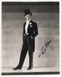 "Movie/TV Memorabilia:Autographs and Signed Items, Fred Astaire Signed ""Top Hat"" Photo. A great b&w 8"" x 10"" promophoto of Astaire in the 1935 musical, Astaire's second-most...(Total: 1 Item)"