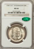 Commemorative Silver: , 1949-S 50C Booker T. Washington MS66 NGC. CAC. NGC Census:(345/54). PCGS Population (390/21). Mintage: 6,004. Numismedia W...